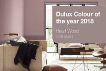 Heart Wood / Dulux colour of the year has been released as 'Heart Wood.' A wonderful earthy tone that sits between taupe and pink for a hearty sense of warmth.