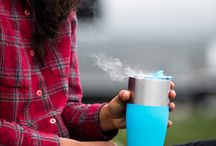 Fill, kick back, enjoy, repeat. / From morning coffee to campfire toasts, this multitasking tumbler makes lukewarm drinks a thing of the past. With its double-walled, vacuum insulated construction, it keeps drinks frosty for 8 hours, and piping hot for 4.