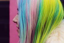crinières colorées