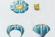 Jewelry sketch / Illustration et croquis de bijoux