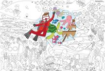Supersized colouring posters