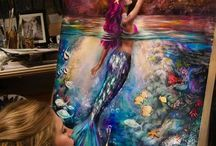 Mermaid Art / Zeemeerminnen kunst