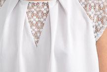 Блузки. Блузка со вставкой