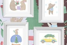 Nursery Art / Nursery Art, Art Printable, Art prints, artwork, illustration, animal illustration, nursery animal art