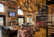Staircases - Honest Abe Log Homes / This is a display of a variety of staircase design in log cabins or log homes. Honest Abe Log Homes has specifically designed staircases and other decor to customize a consumers specific requests.