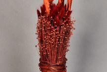 szárazvirág dekoráció