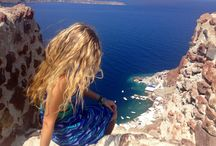 Beautiful santorini / #hair #blonde #santorini #greece #travel