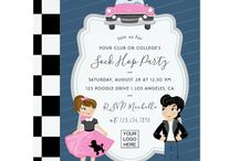 Sock Hop Party / Sock Hop Party suite with elegant handwriting typography customizable to your event specifics for any occasion.