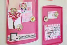 Crafts-Cookie Sheet Memo Board