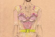 Cedric Rivrain Fashion Illustrations