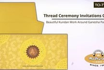THREAD CEREMONY INVITATIONS / Thread Ceremony Invitations Along with Elegant Designs and Holy Symbols