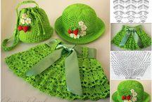 Crochet free Pattern – Bag, Hat and Skirt Set for Little Girls