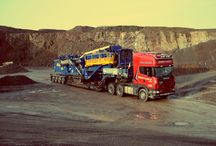 The Haulage Fleet / Pictures of our international fleet, hauling heavy machinery and cargo all across the UK and Europe.