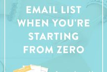 Email marketing for authors and writers / Tips and ideas for growing and marketing your author business using an email list. For indie authors and self-published books as well as traditionally published writers.