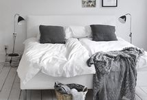 Bedrooms black&white&gray