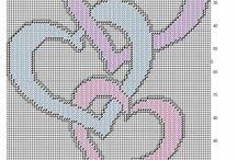 plastic canvas hearts