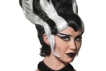 Halloween Costume Wigs / One of the best finishing touches you can put on your Halloween costume is to add a wig! Whether it's a character wig like Beetlejuice or Morticia, or just changing up your hair colour for the night, be sure to add a wig to your outfit.