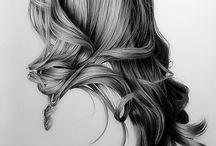 hair/head sketches