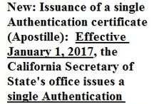 New in apostilles / This board is about news and changes in apostille procedures in the United States.