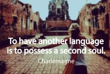 Quotes / Famous quotes about traveling and learning foreign languages.