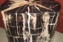 PETRIFIED WOOD / The world's most amazingly beautiful petrified wood for home furniture decoration.