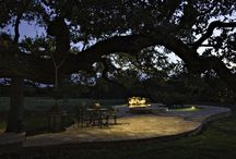 Backyard Lighting / Your outdoor living spaces become more usable after dark with outdoor lighting.
