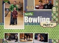 Bowling Scrapbooking / Scrapbooking Bowling layouts & products