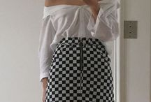 checkered  skirt inspo