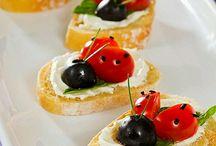 chlebíky a slané torty