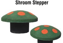 Shroom Steppers by Rubber Designs / Popular playground accessories for pre-school aged children