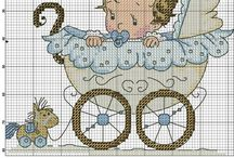 Cross stitch - welcome baby boy