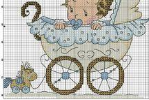 Cross stitch - welcome baby boy