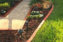 Landscape with Decorative Outdoor Edging