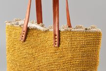 Woman knitted bags