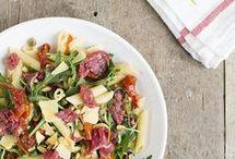 Carpaccio met pastasalade