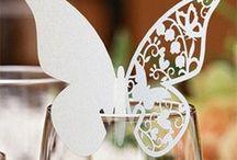 marque place fleur,porte noms ,etiquettes,decoration de table mariage