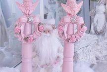 columnas rosadas
