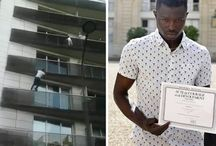 Spiderman in Paris / Man Climbs Building in Paris to Save Child Dangling From Balcony in Stunning Display of Heroism!
