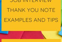 Thank you notes at the Office / Thank you note examples for thanking your boss, team, coworkers, job interviewers, etc.