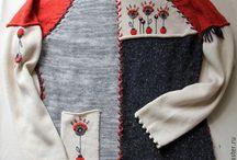 вязание + вышивка