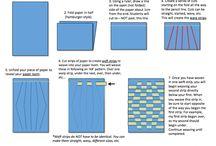 Art:  Op Art Paper Weaving
