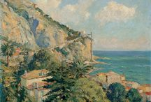ART:  Landscapes - South of France / Landscapes of the south of France, including Provence, Languedoc, the Riviera / by Donna Morgan