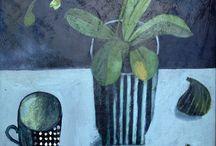 Art Still Life / Flowers, contemporary flowers, contemporary still-life, still life with flowers / by Carole Dawber