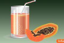 Как сделать сок из папайи?
