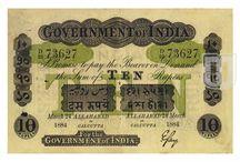 British India - Uniface Note of Government of India / Notes of  Uniface Note of Government of India of British India