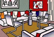 Art-Lichtenstein & Warhol / Iconic art by Roy Lichtenstein, and Andy Warhol.