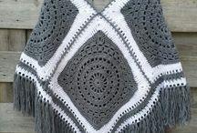 Poncho crochet e tricot