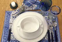 Spring Tabletop / Brighten up the table with new placemats and dishes for Spring!