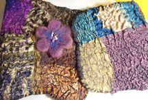 cuellos, bufandas, fieltro, nuno felt / gasa, seda, fibras