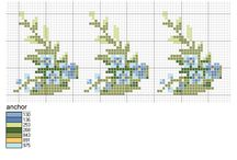 cross stitch forget-me-not